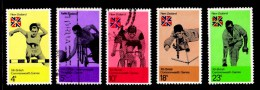 New Zealand 1974 Commonwealth Games Christchurch Set Of 5 Used - New Zealand