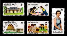 New Zealand 1974 NZ Day Set Of 5 Used - New Zealand