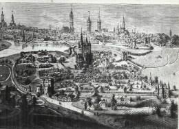 BELGIQUE - BELGÏE - GANT - GENT -  Photo -Vue De La Viller Vers 1540 D'après Toile - Gent