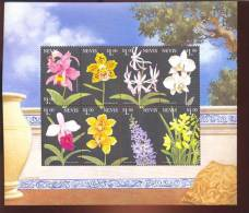 NEVIS   1149 * MINT NEVER HINGED MINI SHEETS OF FLOWERS - ORCHIDS   #  M-603-1*  ( - Orchidee