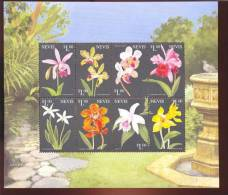NEVIS   1150 * MINT NEVER HINGED MINI SHEETS OF FLOWERS - ORCHIDS   #  M-603-2* - Orchidee