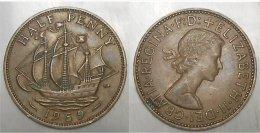 Half Penny 1959 - Grossbritannien