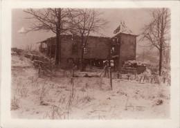 Photo Février 1918 Route De VIENNE-LE-CHATEAU (près Clermont-en-Argonne) - Le Château Du Four De Paris (A110, Ww1, Wk 1) - Non Classés