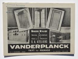 Buvard des ATELIERS VANDERPLANCK � FAYT-lez-MANAGE (Menuiserie m�tallique)