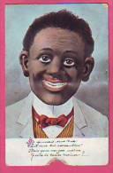 CP HUMORISTIQUE PERSONNAGE  RENTRANT ET TIRANT LA LANGUE  LANGUETTE EXPEDIEE DE WASSY  EN 1908 - Humour