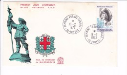 Enveloppe Premier Jour 1er FDC Semaine France Canada Troyes 1972 N° 789 A (tachée) - FDC