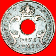 ★HOLE: EAST AFRICA ★5 CENTS 1933! LOW START★NO RESERVE! GEORGE V (1911-1936) - British Colony
