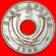 ★HOLE: EAST AFRICA ★5 CENTS 1943SA! LOW START★NO RESERVE! GEORGE VI (1937-1952) - Colonie Britannique