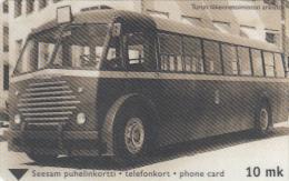FINLAND - Old Bus, Turun Puhelin telecard, CN : 2010, tirage 31000, exp.date 12/01, used