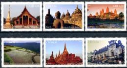 ONU Genève 2015 - Patrimoine Mondial Asie - 6 Timbres Détachés De Carnet De Prestige ** MNH PF - Unused Stamps
