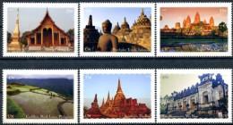ONU New-York 2015 - Patrimoine Mondial Asie - 6 Timbres Détachés De Carnet De Prestige ** MNH PF - Unused Stamps