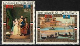 ALTO VOLTA - 1972 - OPERE D'ARTE - LA MUSICA DI PIETRO LONGHI - PANORAMA DA PONTE DELLA MARINA DI CAFFI - USED - Haute-Volta (1958-1984)