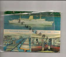 """Cpm Bateau Navire Identifié """" Prinsesse Ragnhild  """" Jahre Line 1966 Kiel Allemagne   Norvège Transport Maritime - Commerce"""