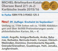 Karibik A-J Amerika 2/1 Michel Katalog 2015/2016 Neu 84€ Antigua Antigua Bahamas Barbados Dominica Grenada Haiti Jamaica - Münzen & Banknoten