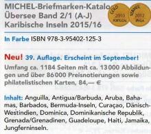 Karibik A-J Amerika 2/1 Michel Katalog 2015/2016 Neu 84€ Antigua Antigua Bahamas Barbados Dominica Grenada Haiti Jamaica - Sammlungen