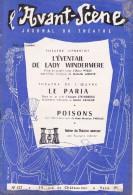L'Avant Scène Journal Du Théâtre N° 127 L'éventail De Lady Windermere - Le Paria Strindberg - Non Classés