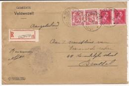 L. Recomm. Affr. N°423 X2 + 528 X2 Relais De VELDWEZELT*/1945 Pour Bxl - Belgique