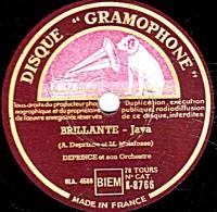 78 Trs - 25 Cm - état TB -  DEPRINCE - BRILLANTE Java - DOS MARACAS  Rumba - 78 Rpm - Gramophone Records