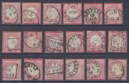 DR Lot 18 Marken Minr.19 Gestempelt - Briefmarken
