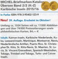Karibik K-Z Amerika 2/2 Michel Katalog 2015/2016 Neu 84€ Kuba Lucia Montserrat Nevis Rico Tobago Turks/Caicos St.Vincent - Sammelkarten, Lernkarten