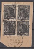 SBZ Briefstück Minr.166  30.6.48  4er Block - Sowjetische Zone (SBZ)