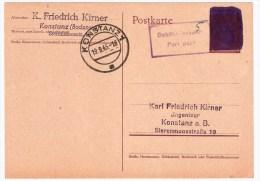 Frz. Zone, September1945, Sehr Frühe Post Nach 1945,  #2528 - Zone Française