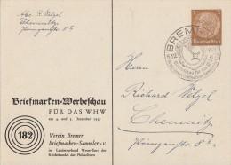 DR Privat-Ganzsache Minr.PP122 C63/02 SST Bremen 5.12.37 - Deutschland