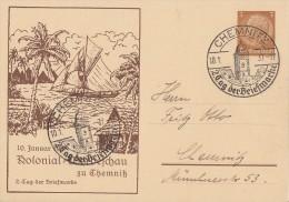 DR Privat-Ganzsache Minr.PP122 C44 SST Chemnitz 10.1.37 - Deutschland