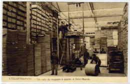 ST. MANDE: Gros Plan Sur Le Magasin à Papier Avec Animation. Carte D´ordre De Reliure. Obl. Mécanique En 1930 - Saint Mande