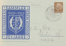 DR Privat-Ganzsache Minr.PP122 C66 SST Berlin Friedrichshagen 21.11.37 - Deutschland