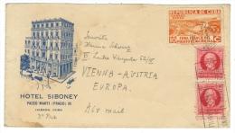 Cuba // République De Cuba, Lettre Pour Wienne Au Départ De La Havane  ( Mars 1937) - Cuba