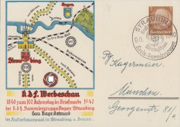 DR Privat-Ganzsache Minr.PP122 C111 SST Straubing 9.6.40 - Deutschland