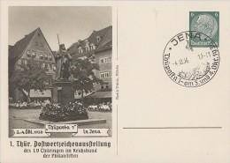 DR Privat-Ganzsache Minr.PP127 C22/01 SST Jena 4.10.36 - Deutschland