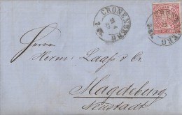 NDP Brief EF Minr.4 Cronenberg 21.6.68 Gelaufen Nach Magdeburg - Norddeutscher Postbezirk