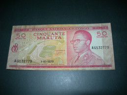 Congo 50 Makuta. 1970. - Zonder Classificatie