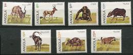 (CL 7 - P4) Angola ** N° 689G à 689N (ref. Michel Au Dos) - Grand Koudou, Gazelle, Buffle, Hippotrague, Oryctérope, Hyèn - Angola