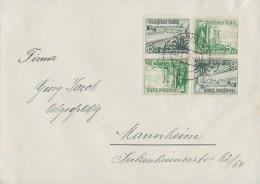 DR Brief Zusammendruck Minr.2x SK 32 Mannheim 10.3.38 - Deutschland