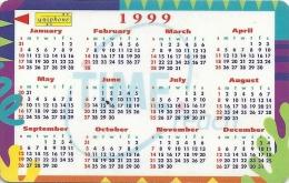 Malaysia (Uniphonekad) - Calendar 1999, 5MTRA, Used - Malaysia