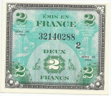 France - AMC - 1944 - 2 Francs - Block 2 - UNC - Treasury