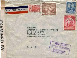 Colombie Colombia USA Lettre Avion Cali Censure Censura Censored Airmail Cover Carta Brief Belege - Colombia