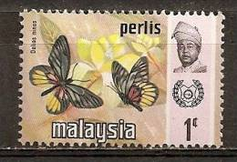 Malaysia Perlis Papillon Butterfly - Maleisië (1964-...)