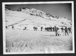 1932 New York Times Press Agency Photograph Military Execise In The Alps Briancon General Serrigny Skieurs - Photographs