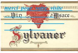 étiquettes : étiquette De Bouteille De Vin D´ALSACE SYLVANER / Vu D´un Domaine église Vigne Habitations - Vino Bianco
