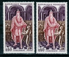 France 1497 Variété Doigts éffacés Et Normal Charlemagne Neuf ** TB MNH Sin Charnela - Varieties: 1960-69 Mint/hinged