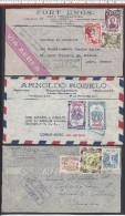 AMERIQUE - PETIT LOT DE TROIS LETTRES - 1 COLOMBIE - 1 PEROU - 1 NICARAGUA - - Briefmarken