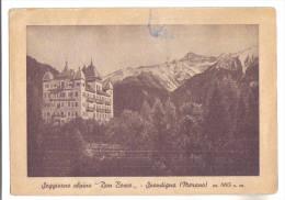 """Spondigna, Hotel Posta Cervo, Soggiorno Alpino """"Don Bosco""""(Collegio Salesiano Astori Mogliano V.to) - F.G. - Anni ´1940 - Bolzano"""