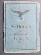 LUFTWAFFE Soldbuch Personalausweis Graz 1944 ORIGINAL RRR!! Pardubitz /// D*16897