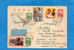 MARCOPHILIE-lettre Entier Postal-avion 6 Kp +complément Aff  5 Timbres -cad 1961 - 1923-1991 USSR