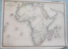 Carte D'Afrique - Fin XIXème Siècle. - Geographical Maps