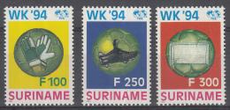 Republiek Suriname - Wereldkampioenschappen Voetbal 1994 In De Verenigde Staten - MNH - Zb 803-805 - World Cup